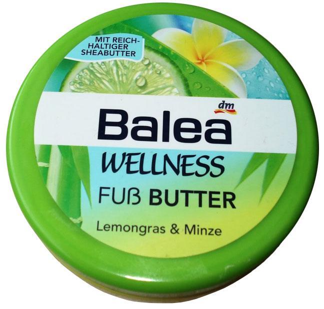 Крем для ног Balea велнесс с лимонной травой и мятой 200мл