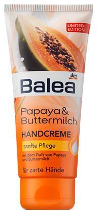 Крем для рук Balea с пантенолом, оливковым маслом, папайей и пахтой 100мл