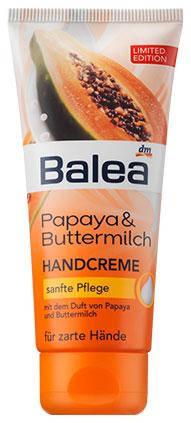 Крем для рук Balea с пантенолом, оливковым маслом, папайей и пахтой 100мл, фото 2