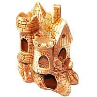 Декорации для аквариума Керамика Дом на скале 15*17*11
