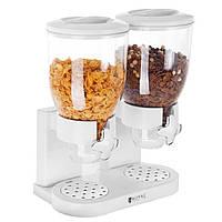 █▬█ █ ▀█▀Диспенсер для мюслей две емкости 3,5л раздаточное устройство сыпучих продуктов хлопьев леденцов кофе