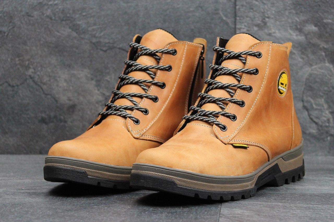 Мужские зимние ботинки Timberland темно коричневые 40,41,42р