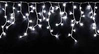 """Светодиодная Гирлянда """"Бахрома"""" 110 LED белый,  3x0.6 м черный провод"""