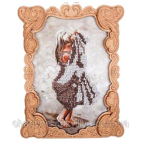 Набор для вышивки бисером с фигурной рамкой FLG-026