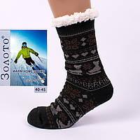 Тёплые домашние носки с тормозами Золото HD3001-4