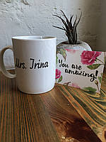 Именная чашка Mrs. Irina