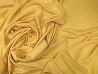 Кашемировый однотонный  палантин с бахромой цвет жёлтый