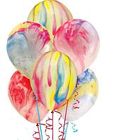 """Воздушные шары  Мрамор 12"""" (30 см.) ассотри"""
