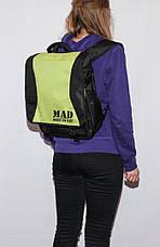 """Женская сумка - рюкзак  """"PACE"""" салатовая (спортивная), фото 3"""