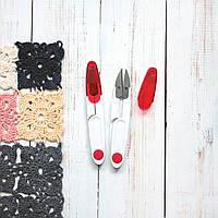 Ножницы для нити с защитным колпачком, красные