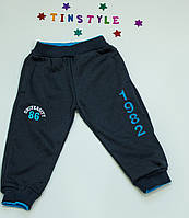 Спортивные теплые  брюки  для мальчика на 1-5 лет