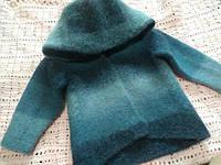 Кардиган вязание-валяние из шерстяной пряжи Кауни
