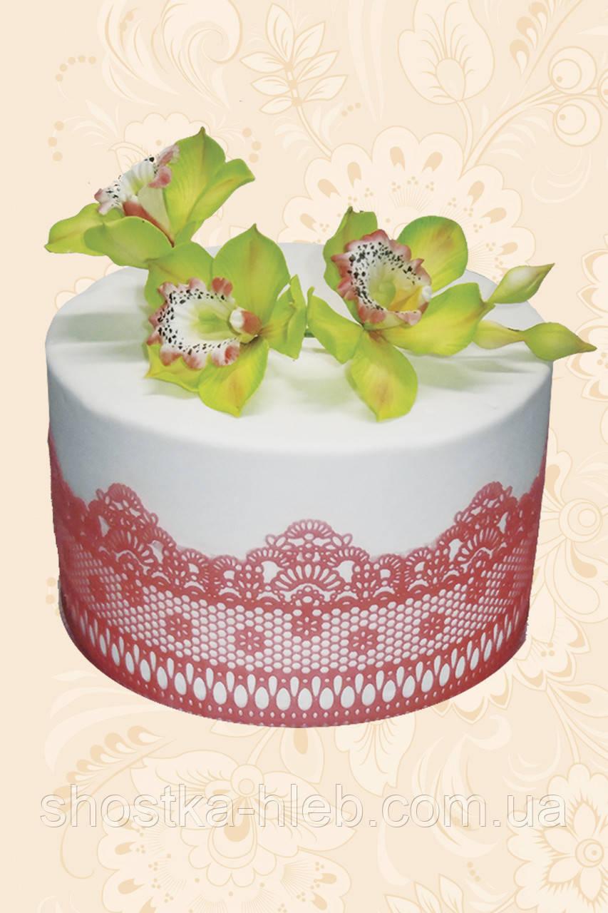 """Торт Флористика """"Гілочка орхідеї салатової"""""""
