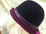 Капелюшок з фетру триколірна з опущеними полями, фото 3