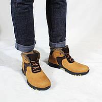 Трекинговые мужские кожаные зимние ботинки на меху (шерсть) UNCIA SHOES