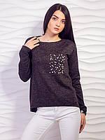 Темно серый свитер из ангоры