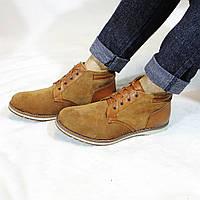 Мужские кожаные зимние ботинки на меху (шерсть) UNCIA SHOES
