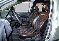 """Модельные чехлы Volkswagen Caddy / Фольксваген Кадди (1+1) 2004-2013 """"Алькантара"""", фото 1"""
