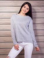 Серый свитер из ангоры
