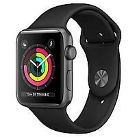 Смарт-часы Apple Watch Series 3 (GPS) 42mm Space Gray Aluminum w. Black Sport B. - Space Gray (MQL12)