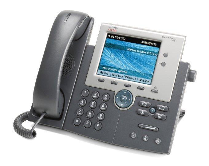 Телефон Cisco UC Phone 7945, Gig Ethernet, Color, spare (CP-7945G)