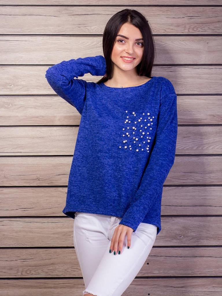 Синий свитер из ангоры