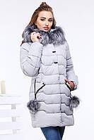 Куртка женская зимняя Гелана, р-ры 44 - 56, ТМ NUI VERY, Украина св. сирень