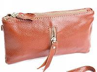 Женская кожаная косметичка 853 Taupe женский кожаный клатч купить недорого в Одессе