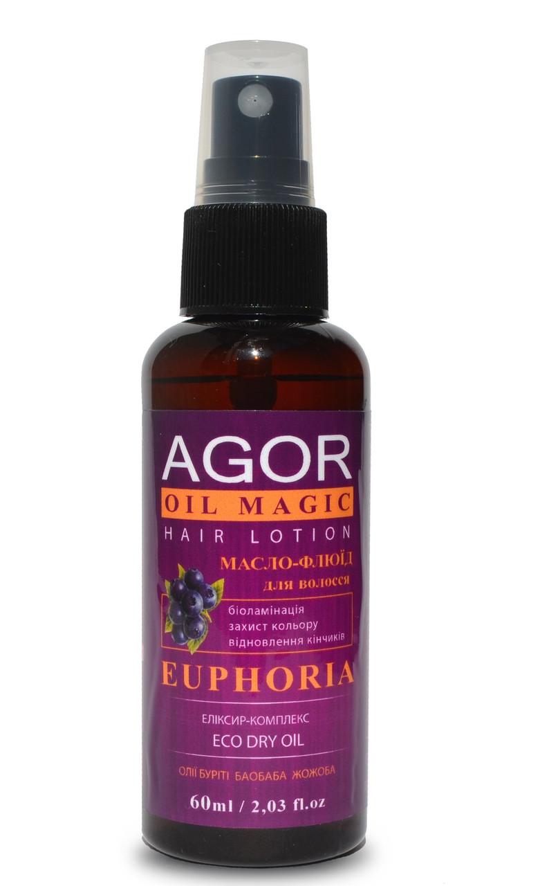 Незмивний масло-рідина для фарбованого волосся EUPHORIA від Agor