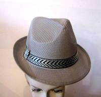 Шляпа Мужская в сеточку бежевая