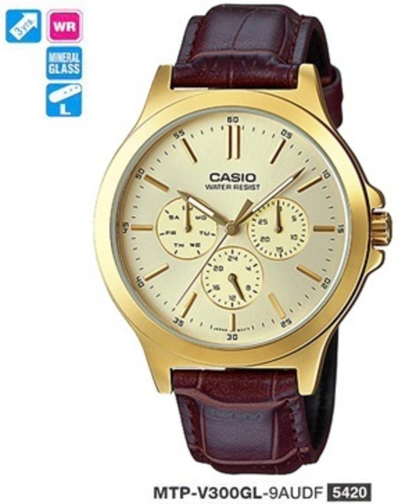 Мужские часы Casio MTP-V300GL-9AUDF Standard