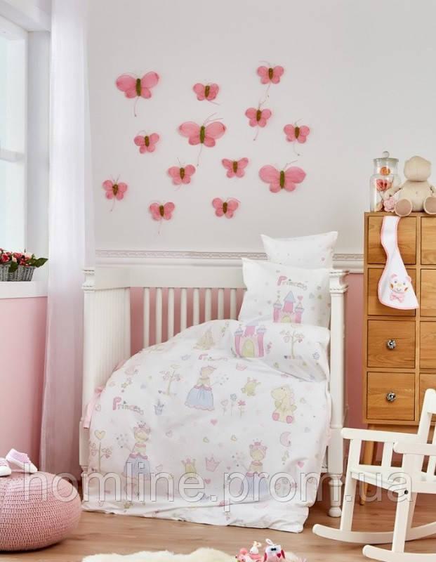 Постельное белье для младенцев Karaca Home ранфорс Princes белое