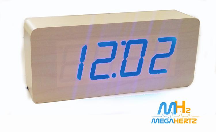 Электронные цифровые часы VST 865 подсветка Blue