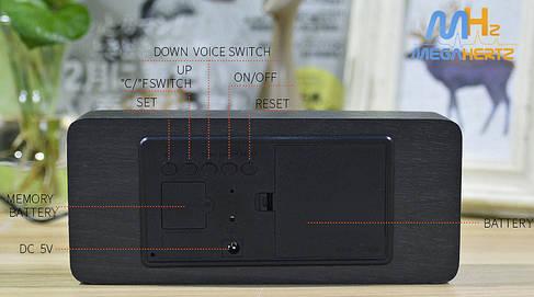 Электронные цифровые часы VST 865 подсветка Blue, фото 2