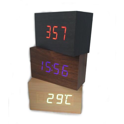 Часы дерево VST 863 подсветка White