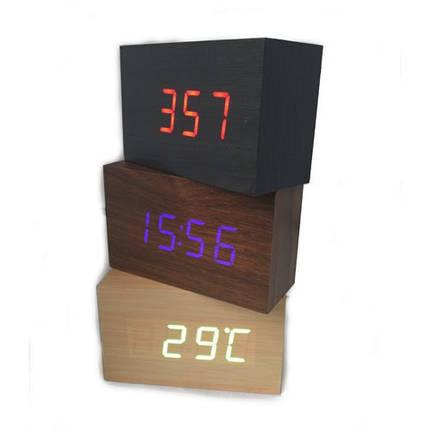 Часы дерево VST 863 подсветка White, фото 2