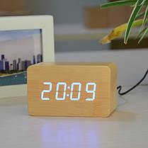 Часы дерево VST 863 подсветка White, фото 3