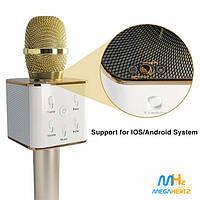 Беспроводной микрофон караоке bluetooth 2 динамика USB Q7 NEW