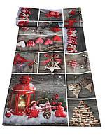 Новогодняя скатерть  3D 130-180 см , фото 1