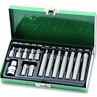 Набор вставок (бит) Торкс (30 и 75 мм), Т20-Т55, 15 предметов