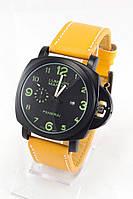Мужские наручные часы Panerai (черный циферблат, оранжевый ремешок) (Копия), фото 1