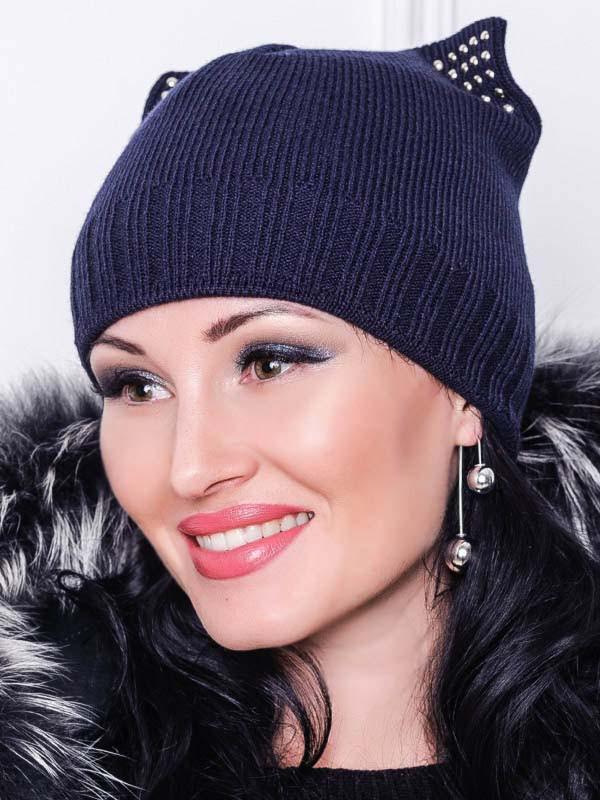 Жіноча шапка -Katty - темно-синій