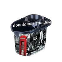 """Ведро Моп с декором для швабры с отжимом """"Лондон"""" Elif Plastik, Турция"""