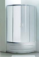 "Eger TISZA MELY душевая кабина 90*90*200 см, на глубоком поддоне, профиль белый, стекло ""Zuzmara"""