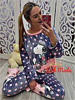 Женская велюровая пижама Снупи