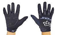 Мотоперчатки текстильные с закрытыми пальцами FOX M-4538-BW(M) 360 (р-р M, черный)