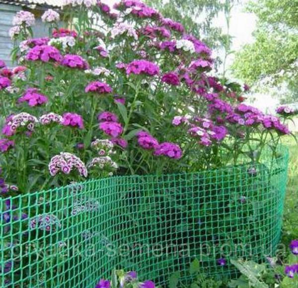 Декоративная садовая решетка Intermas - Nortene B-90 черная, 0,9 м*25 м