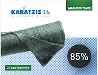 Сетка затеняющая Karatsiz 85% 4х50 м зеленая Греция, фото 1