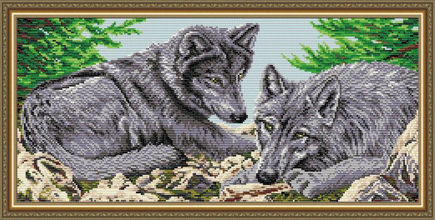 """Набор в алмазной технике """"Волки"""", фото 2"""