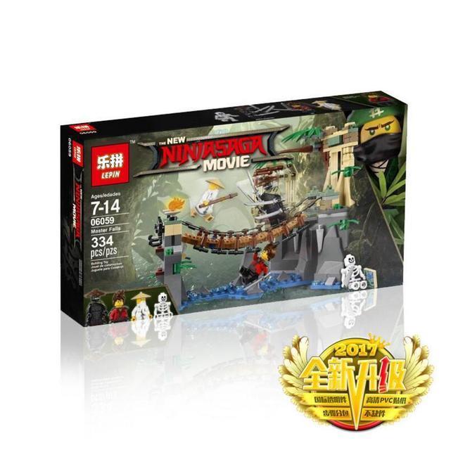 """Конструктор Ninjago Movie Lepin 06059 (аналог Lego 70608) """"Битва Гармадона і Майстра Ву"""" 327 деталей"""